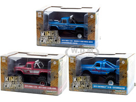 Kings of Crunch Set of 3 Monster Trucks Series 3 1/43 Diecast Model Cars Greenlight 88031 88032 88033
