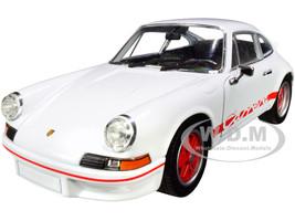 Porsche 911 Carrera RS 2.7 White Red Stripes NEX Models 1/24 Diecast Model Car Welly 24086