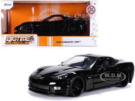 2006 Chevrolet Corvette Z06 Black Bigtime Muscle 1/24 Diecast Model Car Jada 31862