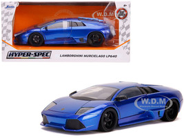 Lamborghini Murcielago LP640 Candy Blue Hyper-Spec 1/24 Diecast Model Car Jada 32279