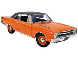 1969 Dodge Dart GTS 440 Orange Black Vinyl Top Black Stripe Limited Edition 432 pieces Worldwide 1/18 Diecast Model Car ACME A1806404VT