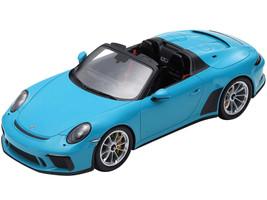 2019 Porsche 911 Speedster Light Blue 1/18 Model Car Spark 18S467