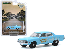 1971 AMC Matador Bright Blue Tri-Counties Bonding Company Hobby Exclusive 1/64 Diecast Model Car Greenlight 30153