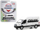 2019 Ford Transit High Roof Van Police White Black Route Runners Series 1 1/64 Diecast Model Greenlight 53010 D