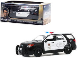 2013 Ford Police Interceptor Utility White Black LAPD Los Angeles Police Department The Rookie 2018 TV Series 1/43 Diecast Model Car Greenlight 86587