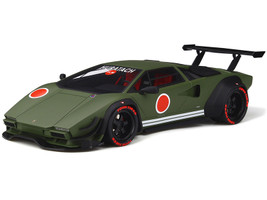 Lamborghini Khyzyl Saleem Huratach Matt Green Limited Edition 999 pieces Worldwide 1/18 Model Car GT Spirit GT809