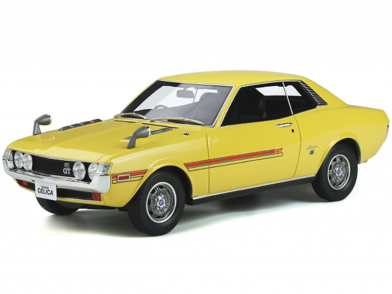 Toyota Celica GT R22 Coupe RHD Right Hand Drive Yellow Black Red Stripes 1/18 Model Car Otto Mobile OT344