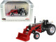 White 2-88 Wide Front Tractor Loader Silver Red 1/64 Diecast Model SpecCast SCT746