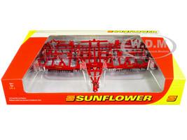 Sunflower 6433 Split-Wing Land Finisher Folding Wings Red 1/64 Diecast Model SpecCast SCT754