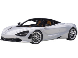 McLaren 720S Glacier White Metallic Black Top 1/18 Model Car Autoart 76071