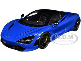 McLaren 720S Paris Blue Metallic Black Top 1/18 Model Car Autoart 76073
