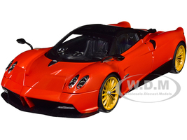 Pagani Huayra Roadster Rosso Monza Red Carbon Luggage Set 1/18 Model Car Autoart 78287