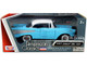 1957 Chevrolet Bel Air Light Blue White Top American Classics 1/24 Diecast Model Car Motormax 73228