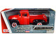 1956 Ford F-100 Pickup Truck Red Black Whitewall Tires American Classics 1/24 Diecast Model Car Motormax 73235