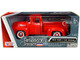 1956 Ford F-100 Pickup Truck Red Whitewall Tires American Classics 1/24 Diecast Model Car Motormax 73235