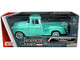 1955 Chevrolet 5100 Stepside Pickup Truck Turquoise Whitewall Tires American Classics 1/24 Diecast Model Car Motormax 73236