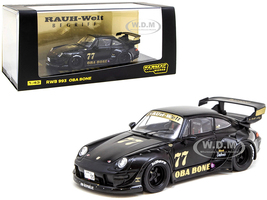 Porsche RWB 993 #77 Oba Bone Matt Black RAUH-Welt BEGRIFF 1/43 Diecast Model Car Tarmac Works T43-014-OB