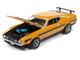 1971 Ford Mustang Boss 351 Medium Yellow Gold Black Stripes Hood Hemmings Motor News Magazine Cover Car November 2011 Limited Edition 10120 pieces Worldwide 1/64 Diecast Model Car Autoworld 64272 AWSP052 A