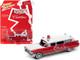 1959 Cadillac Ambulance Red White Special Edition 1/64 Diecast Model Car Johnny Lightning JLSP098