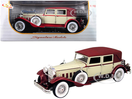 1930 Packard Lebaron Cream Red 1/18 Diecast Model Car Signature Models 18115