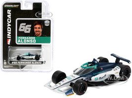 Dallara IndyCar #66 Fernando Alonso Ruoff Mortgage Arrow McLaren SP NTT IndyCar Series 2020 1/64 Diecast Model Car Greenlight 10882