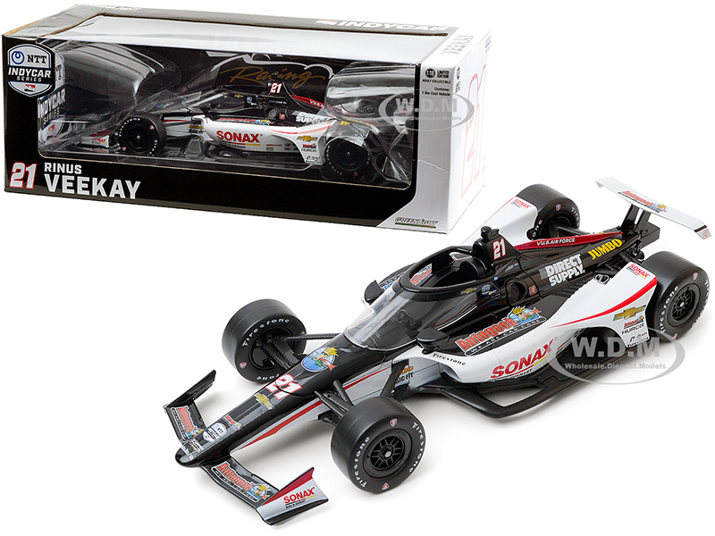 Dallara IndyCar #21 Rinus VeeKay SONAX Ed Carpenter Racing NTT IndyCar Series 2020 1/18 Diecast Model Car Greenlight 11098