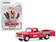 1965 Dodge D-200 Official Pickup Truck Red Dodge Builds Tough Trucks 49th International 500 Mile Sweepstakes Hobby Exclusive 1/64 Diecast Model Car Greenlight 30184