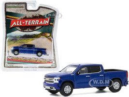 2020 Chevrolet Silverado High Country Pickup Truck North Sky Blue Metallic All Terrain Series 10 1/64 Diecast Model Car Greenlight 35170 F