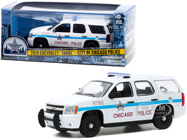 2010 Chevrolet Tahoe CAPS White Blue Stripes City of Chicago Police Department 1/43 Diecast Model Car Greenlight 86183