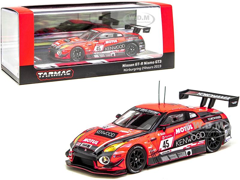 Nissan GT-R Nismo GT3 #45 Coronel Fujii Matsuda Takaboshi Nurburgring 24 Hours 2019 1/64 Diecast Model Car Tarmac Works T64-035-19NUR45