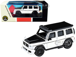 Mercedes AMG G63 Liberty Walk Wagon White Black Hood Top 1/64 Diecast Model Car Paragon PA-55161