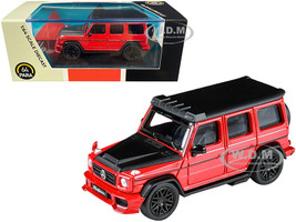 Mercedes AMG G63 Liberty Walk Wagon Red Black Hood Top 1/64 Diecast Model Car Paragon PA-55162