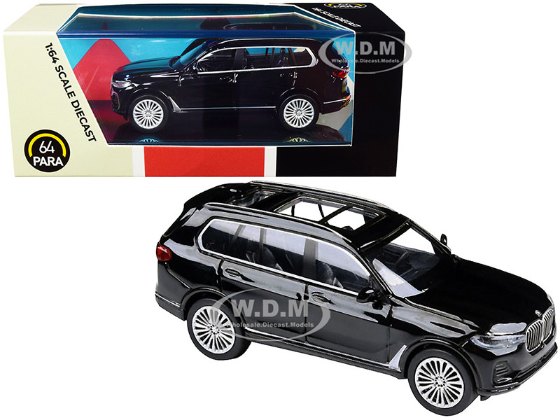 BMW X7 Black 1/64 Diecast Model Car Paragon PA-55191
