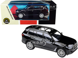 BMW X7 Black 1/64 Diecast Model Car Paragon PA-55191