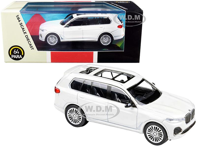 BMW X7 White 1/64 Diecast Model Car Paragon PA-55192