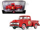 1956 Ford F-100 Pickup Truck Vermillion Red The Busted Knuckle Garage 1/25 Diecast Model Car First Gear 40-0414B3