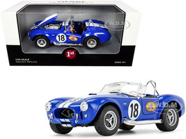 Shelby Cobra 427 S/C #18 Blue White Stripes The Busted Knuckle Garage 1/24 Diecast Model Car First Gear 49-0422B7