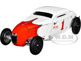 1934 Salt Flat Coupe #1 White Red So-Cal Speed Shop Team Limited Edition 702 pieces Worldwide 1/18 Diecast Model Car GMP 18902