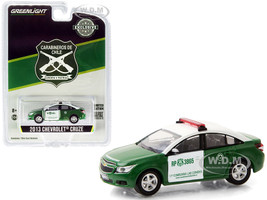 2013 Chevrolet Cruze Carabineros de Chile Police Car Hobby Exclusive 1/64 Diecast Model Car Greenlight 30201