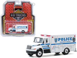 2013 International Durastar Emergency Service New York City Police Department NYPD White H.D. Trucks Series 19 1/64 Diecast Model Greenlight 33190 B