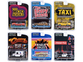 Hollywood Series Set of 6 pieces Release 29 1/64 Diecast Model Cars Greenlight 44890