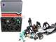 Formula One F1 Pit Crew 7 Figurine Set Team Black 1/18 Scale Models American Diorama 76551