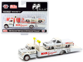 1968 Chevrolet C60 Ramp Truck 1978 Chevrolet Silverado Pickup Truck Bed Cover Mooneyes Equipped White Cream Limited Edition 4400 pieces Worldwide 1/64 Diecast Models M2 Machines 39200-MJS03