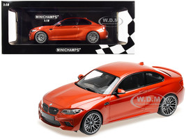 2019 BMW M2 Competition Orange Metallic Limited Edition 504 pieces Worldwide 1/18 Diecast Model Car Minichamps 155028004