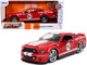 2008 Ford Mustang Shelby GT-500KR #95 Red White Stripes Shelby Racing Co Bigtime Muscle 1/24 Diecast Model Car Jada 31867