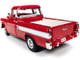 1957 Chevrolet Cameo Pickup Truck Cardinal Red White 1/18 Diecast Model Car Autoworld AW265