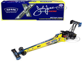 2020 NHRA Funny Car TFD Top Fuel Dragster Brittany Force Flav-R-Pac John Force Racing 1/24 Diecast Model Car Autoworld CP7702