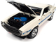 1970 Shelby GT-500 428 Cobra Jet Wimbledon White Blue Black Stripes Class of 1970 1/18 Diecast Model Car Autoworld AMM1229