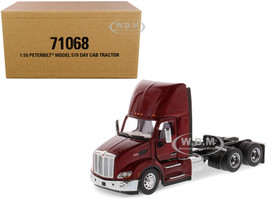 Peterbilt 579 Day Cab Truck Tractor Legendary Red Transport Series 1/50 Diecast Model Diecast Masters 71068