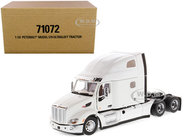 Peterbilt 579 UltraLoft Truck Tractor White Transport Series 1/50 Diecast Model Diecast Masters 71072